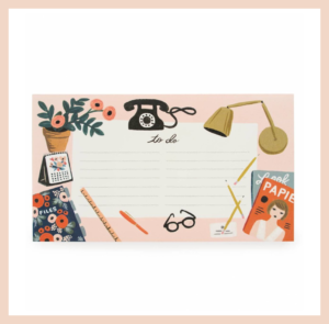 Rifle Paper Co To Do Notepad