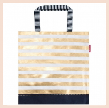 Artebene - Cotton Bag with Gold Stripes