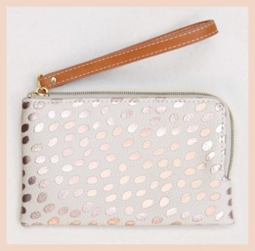 Caroline Gardner - Metallic Dotty Essentials Purse