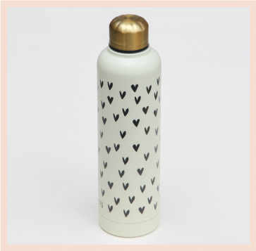 Caroline Gardner Hearts Water Bottle