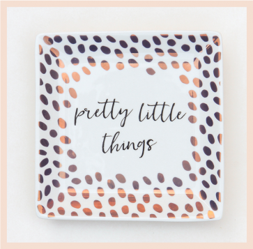 Caroline Gardner - Rose Gold Dotty Trinket Tray
