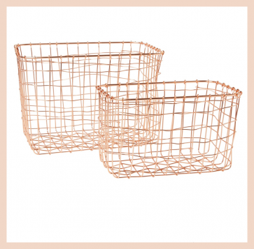 Copper Wire Baskets (set of 2)