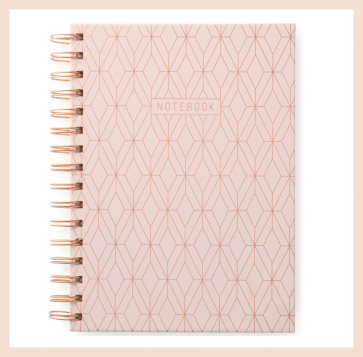 DesignWorks Ink - Copper Geo Spiral Notebook