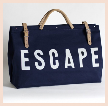 Forestbound ESCAPE Canvas Utility Bag - Navy