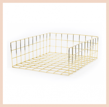 Gold Wire Document Tray