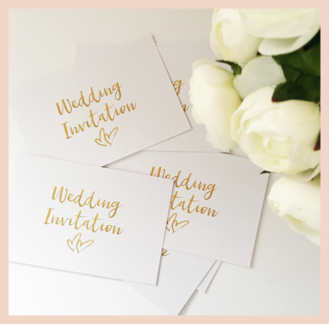 Wedding Invitation - Set of 8 cards