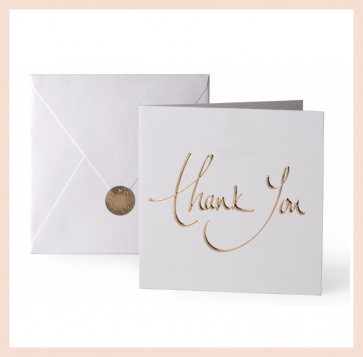 Katie Loxton - 'thank you' greeting card