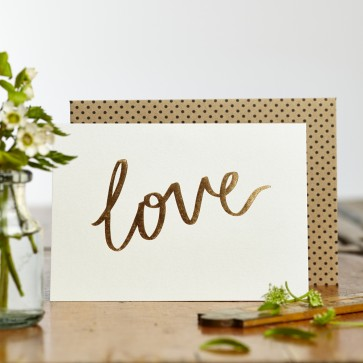 Katie Leamon - 'Love' Gold Foiled Greeting Card