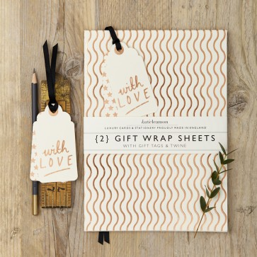 Katie Leamon - Copper Wave Gift Wrap Set