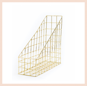 Gold Wire Magazine Rack