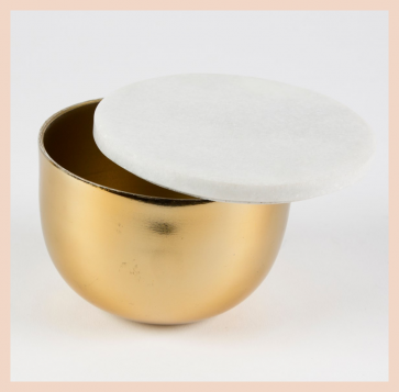 Marble & Brass Storage Dish with Lid