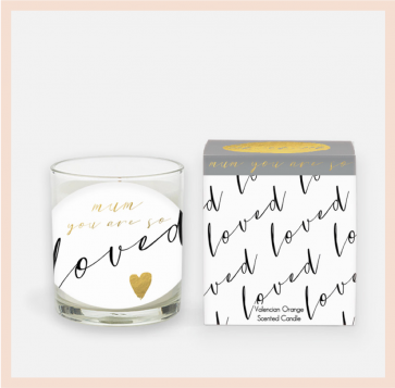 'Mum you are so loved'  Candle