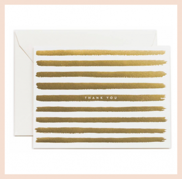 Rifle Paper Co - Gold Stripes Thank You Card Set