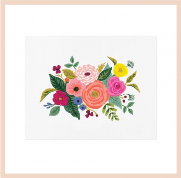 Rifle Paper Co - Juilet Rose Bouquet Art Print