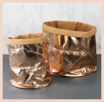 Small Storage Bag - Rose Gold