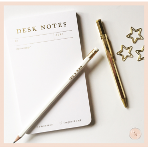 Smitten on Paper - Desk Notes Notepad