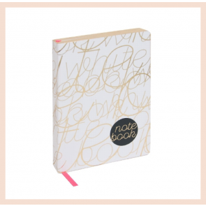 Artebene - White & Gold Notebook (A6)