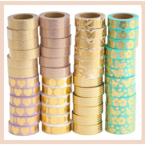 Washi Tape - Pink & Gold Heart