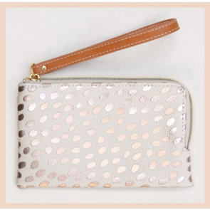 Caroline Gardner - Metallic Dotty Wristlet Purse