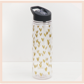 Caroline Gardner - Gold Hearts Water Bottle