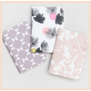 Caroline Gardner- Rose Tinted Pocket Notebooks Set of 3
