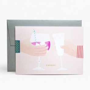 Duke & Rabbit - Cheersing Drinks Greeting Card