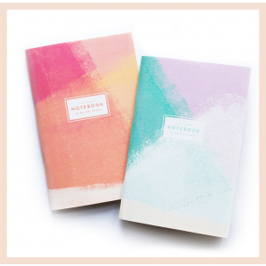 Duke & Rabbit - Brushstroke Notebook (A6, set of 2)