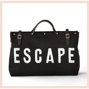 Forestbound ESCAPE Canvas Utility Bag - Black