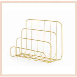 Gold Wire Letter Rack