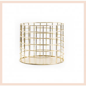 Gold Wire Stationery Pot