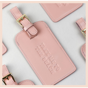Grace London - Leather Luggage Tag