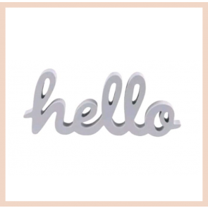 Grey Hello Standing Letters