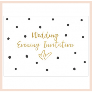 Wedding Evening Invitiation - Set of 8 cards
