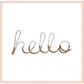 'hello' - wire word