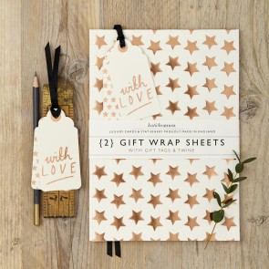 Katie Leamon - Copper Star Wrapping Paper