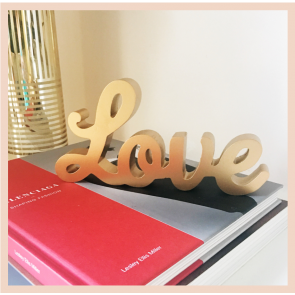 Gold Love Standing Letters