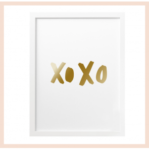 Old English Co - 'XOXO'' Foil Print (A4)