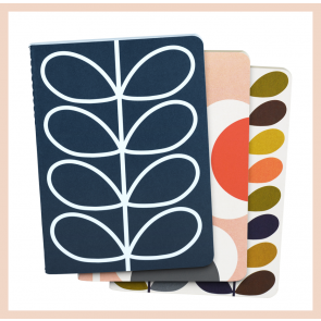 Orla Kiely - Set of 3 Mini Notebooks (A6)