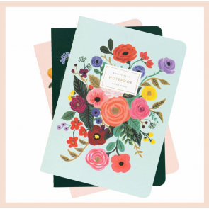 Rifle Paper Co - Garden Party Notebooks (set of 3)