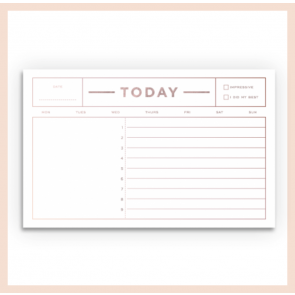 Smitten on Paper - Today Notepad