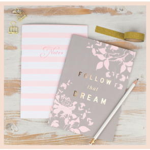 Studio Seed 'Follow that Dream' - Set of 2 Notebooks (A5)