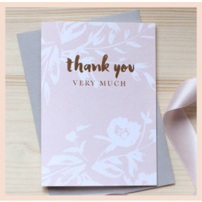 Studio Seed- 'Thank You Very Much' Foiled Cards (boxed set of 8)