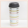 Caroline Gardner - Metallic Stripe Thermal Travel Mug