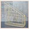 Gold Wire Magazine Rack - Wavy