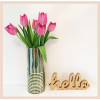 Gold Hello Standing Letters