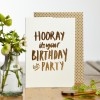 Katie Leamon -It's your Birthday' Gold Foiled Card