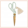 Scissors with tassel & charm