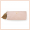 Tassel Pencil Pouch -  Blush Vegan Leather
