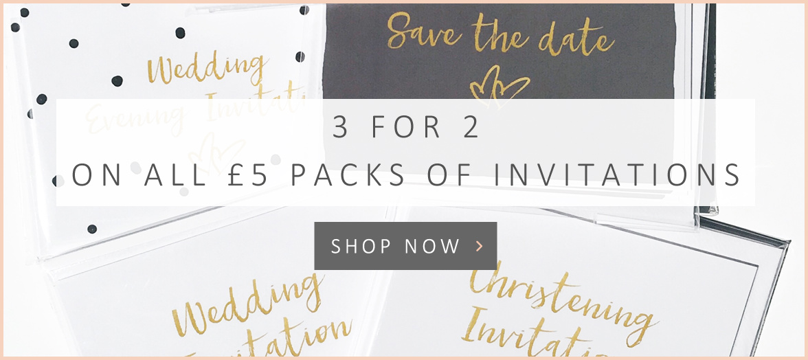 3 for 2 invitations